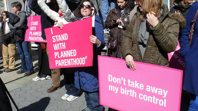 A 2011 Planned Parenthood rally in New York City.