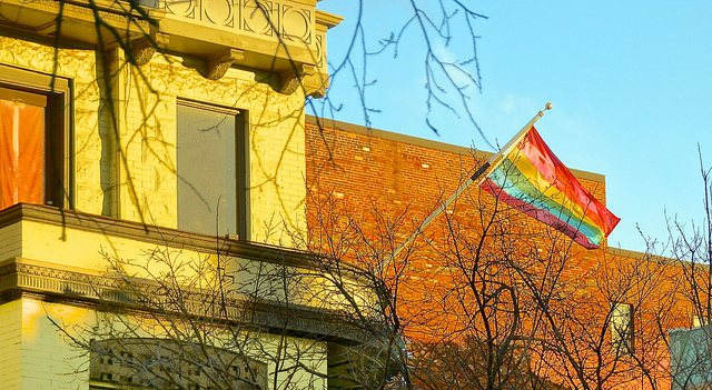 Rainbow flag in Dupont Circle