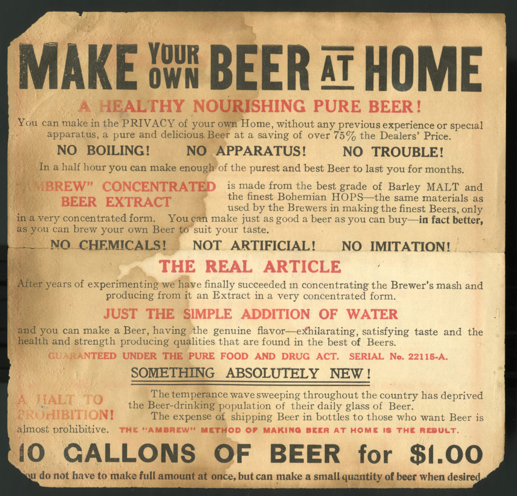 Make Your Own Beer at Home, Advertisement for malt extract, circa 1900.