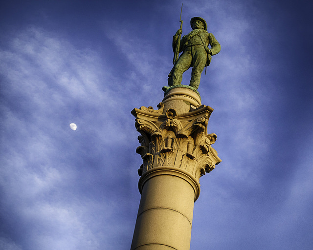 The Confederate Soldiers and Sailors Monument in Richmond, Va.