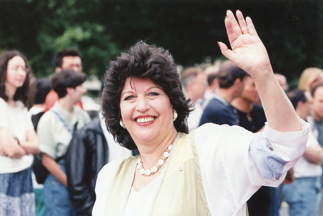 Carol Schwartz at the 1998 Pride Parade.