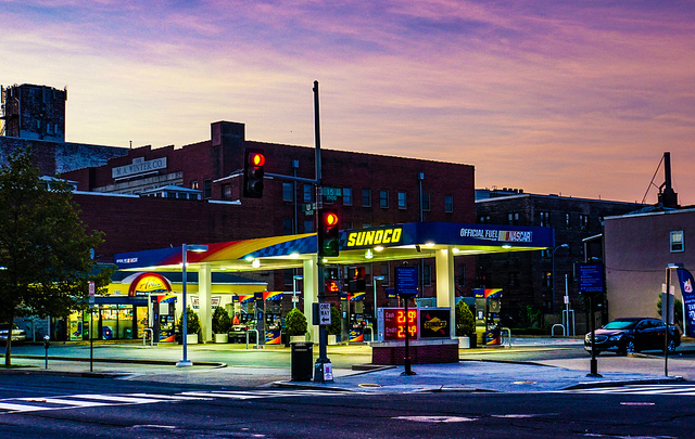 A Sunoco station on 14th and U St. NW.