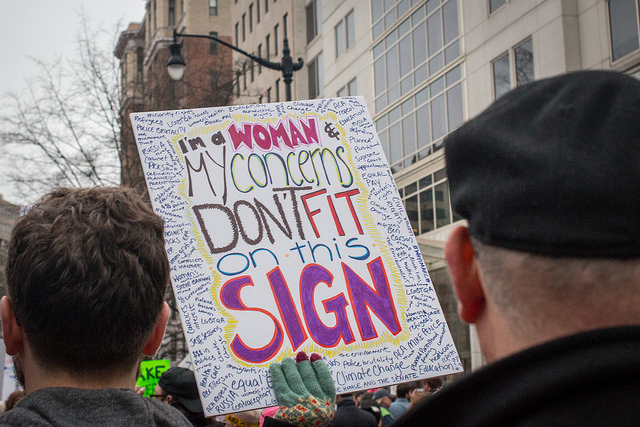 A sign from the 2017 Women's March.