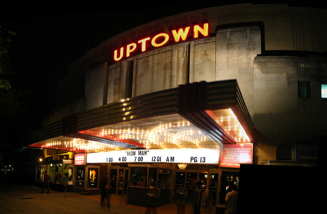 Uptown Theater in Cleveland Park.
