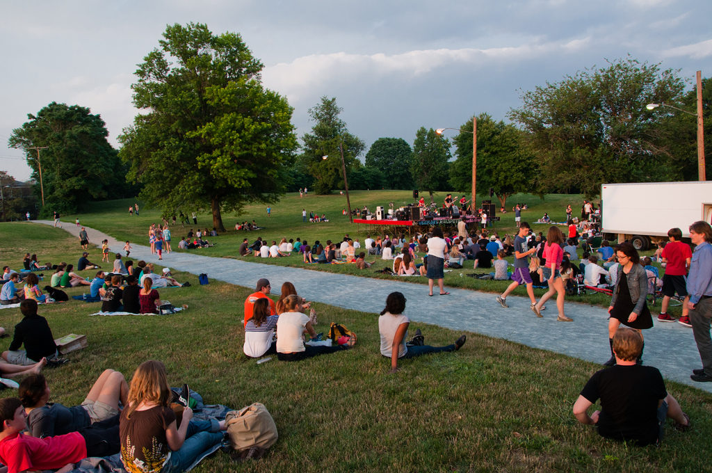 The audience at Fort Reno in June 2011