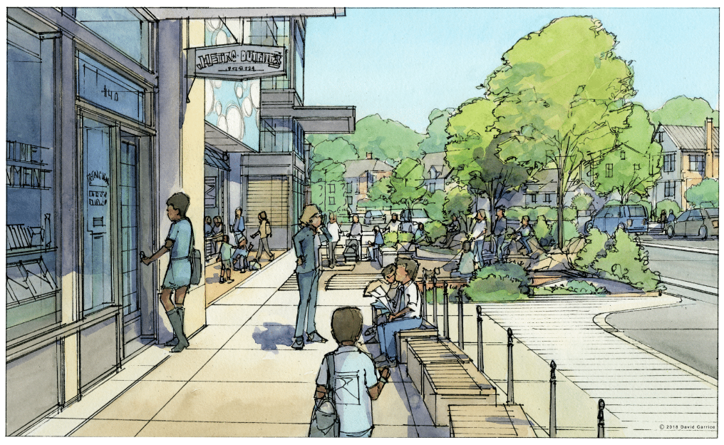 A rendering of the Takoma Junction development.