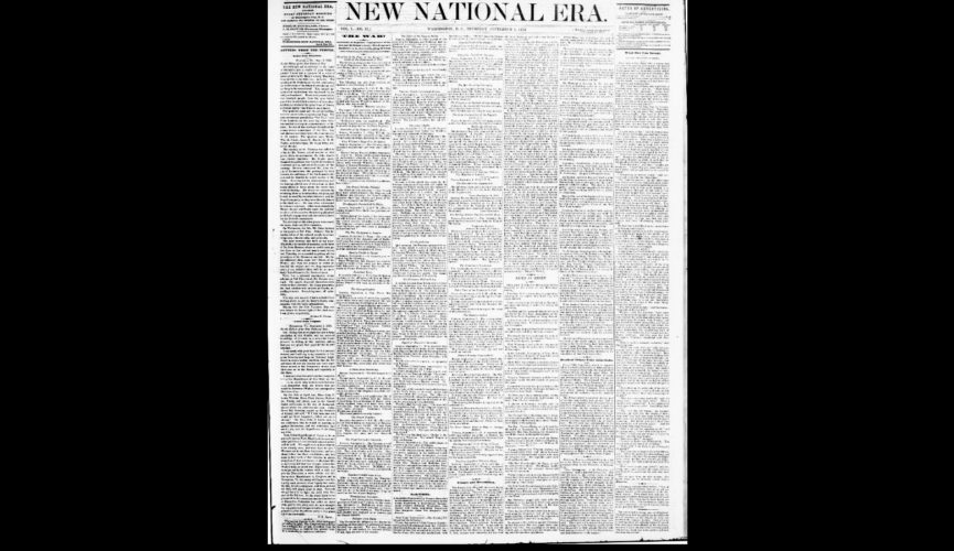 Frederick Douglass' paper, New National Era