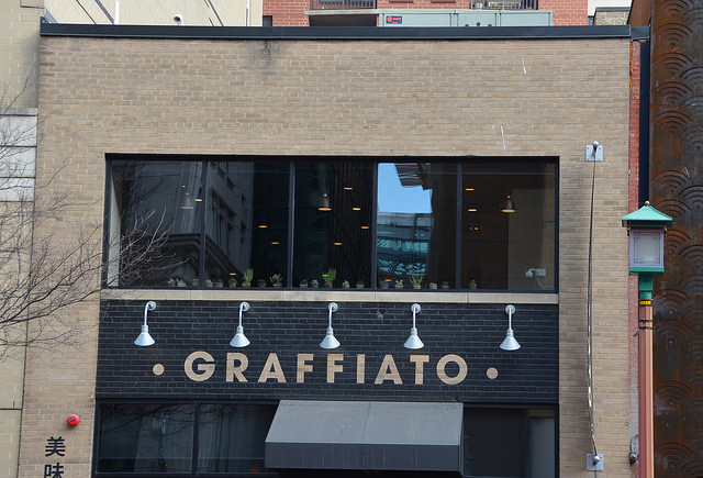 Mike Isabella's former restaurant Graffiato in Gallery Place, D.C.