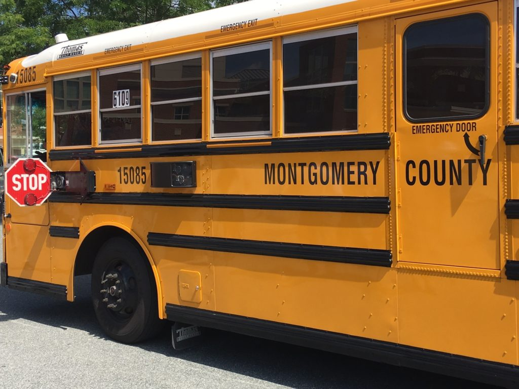 A Montgomery County school bus.