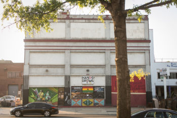 The Hands on Drums' space on Rhode Island Ave. is now vacant as developer MRP Realty clears the way for a new project.