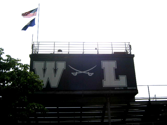 The Washington-Lee High School bleachers.