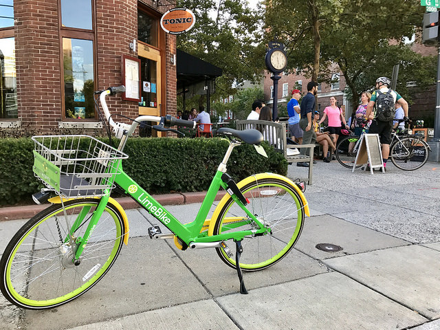 Dockless bikes and scooters have dotted the District with their bright colors.