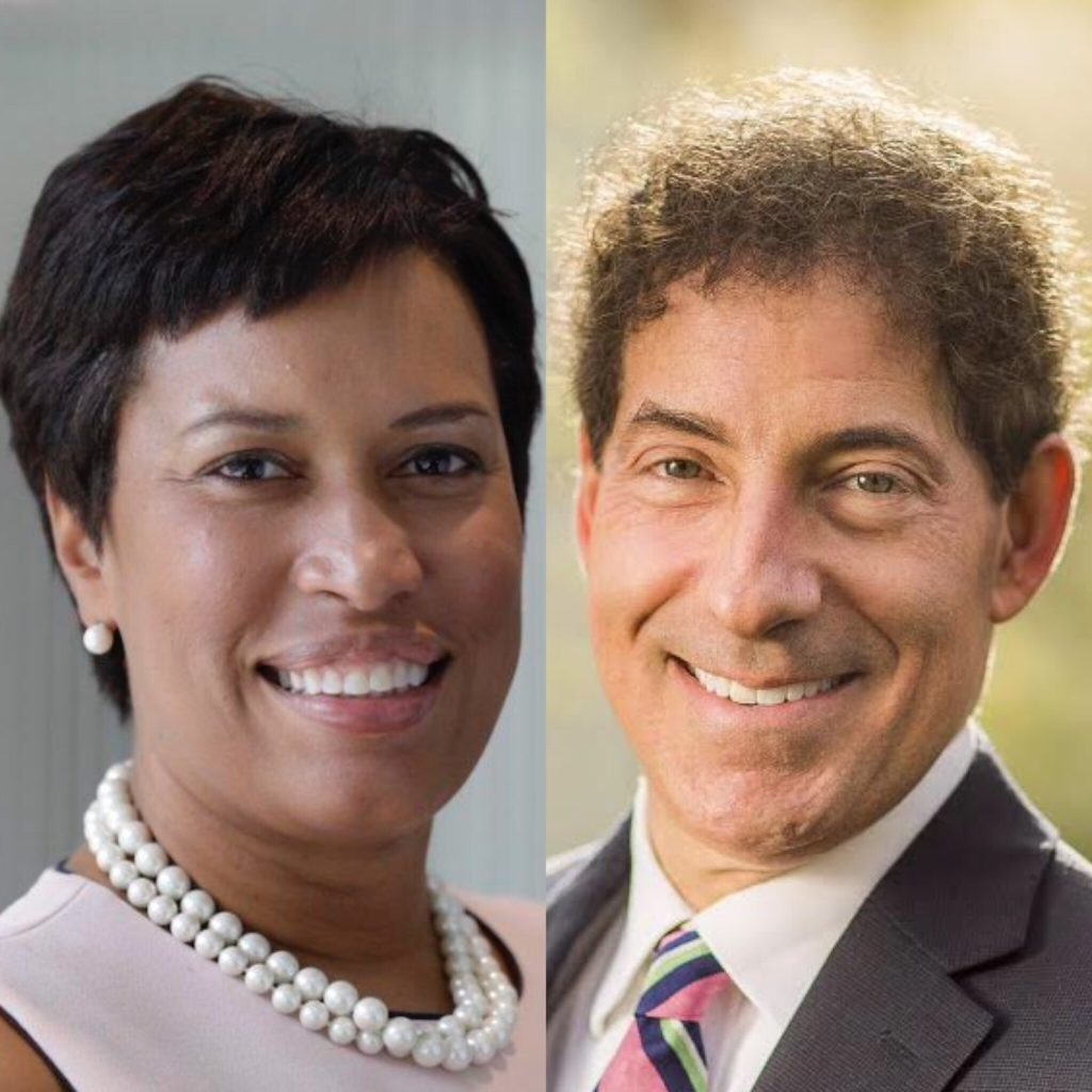 (L-R) Mayor Muriel Bowser, Rep. Jamie Raskin