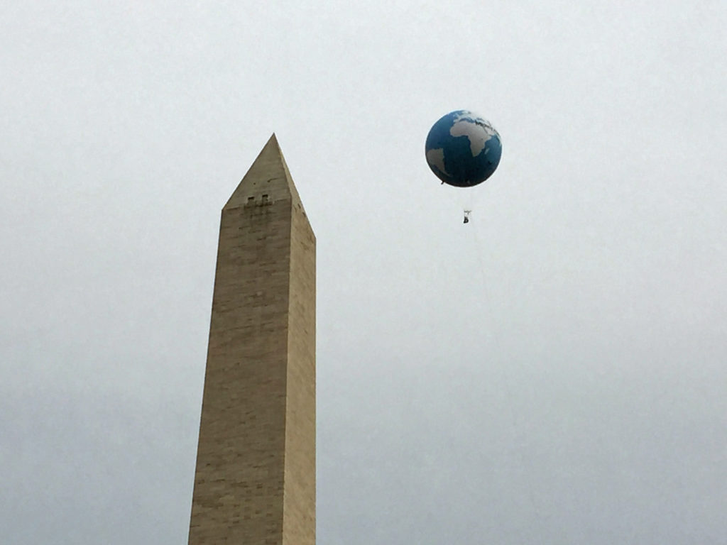The Washington Monument on the day of the People's Climate March, March 29, 1999. Image by Becker1999 via Flickr