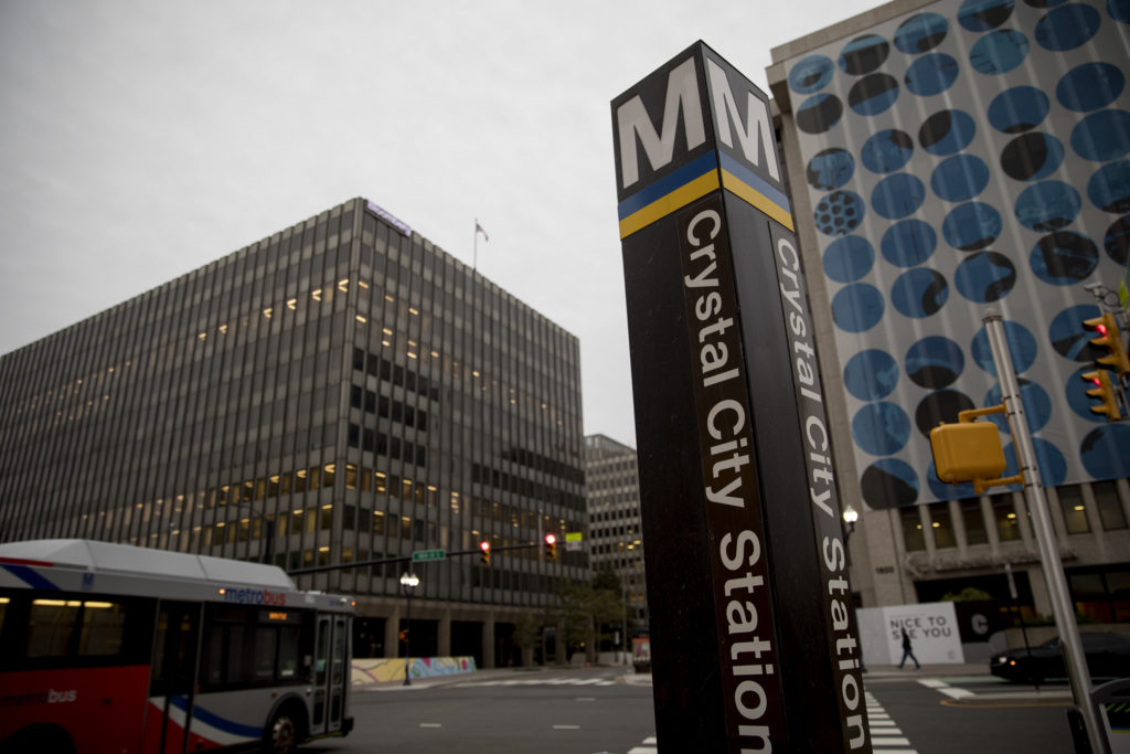 Crystal City's Metro station