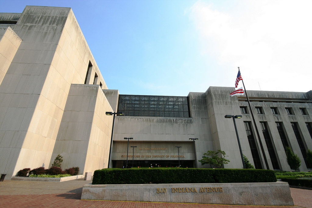 The H. Carl Moultrie Courthouse, where the D.C. Superior Court convenes.