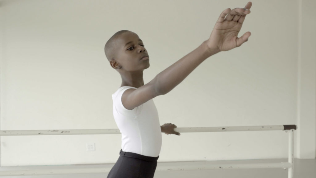 One of the boys featured in the documentary Danseur, which explores the challenges faced by boys in ballet.