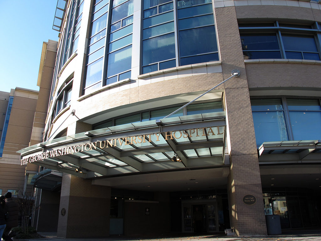 George Washington University Hospital in D.C.'s Foggy Bottom.