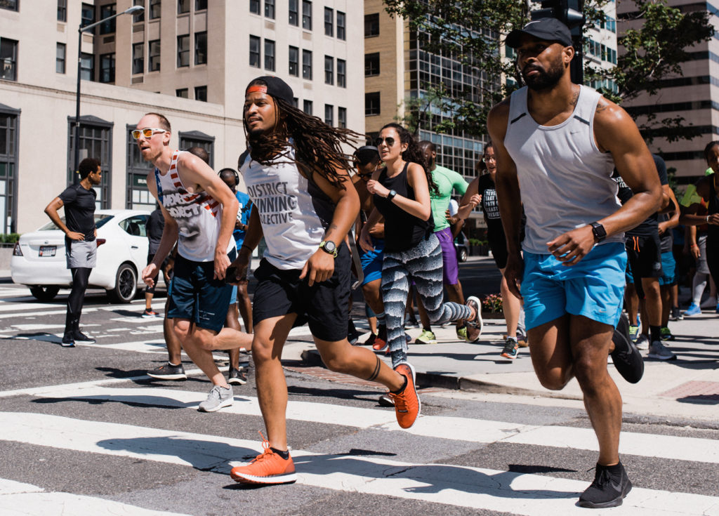 Members of D.C.'s District Running Collective take to the streets for their weekly group workouts.