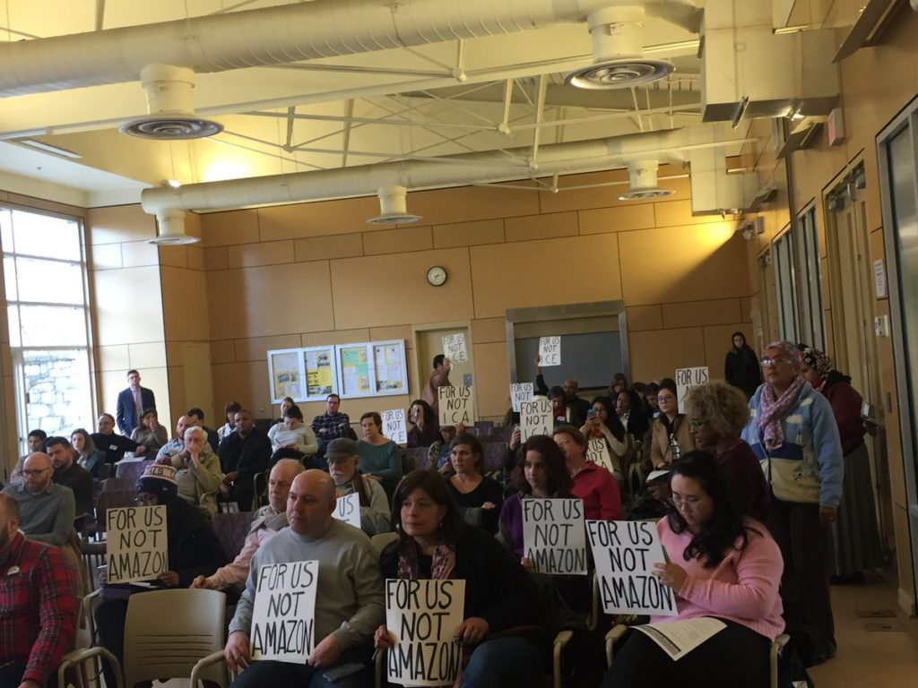 Virginia activists challenging Amazon's plans to move to Crystal City.