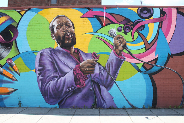 Marvin Gaye mural by Aniekan Udofia in Washington, D.C.