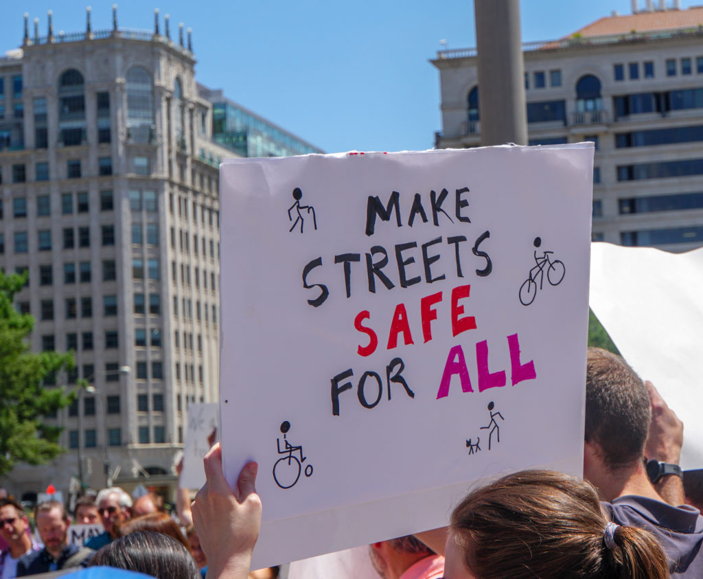 A 2018 rally in Washington, D.C. for safer streets.