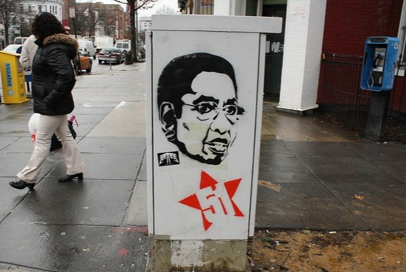 Pro-statehood graffiti of Eleanor Holmes Norton