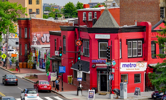 The Metro PCS store in Shaw has been playing go-go music since 1995.