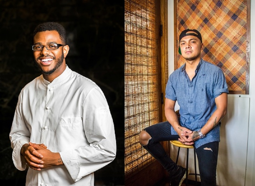 Five Washington-area chefs and restaurants are finalists for the 2019 James Beard Awards, including Kwame Onwuachi (left), the executive chef and founder of Kith/Kin, and Tom Cunanan, the executive chef of Bad Saint.