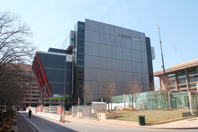 Construction on the new International Spy Museum building last year.