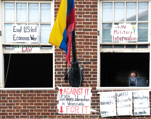 Occupation of the Venezualan Embassy in D.C., by Code Pink, 5/8/19
