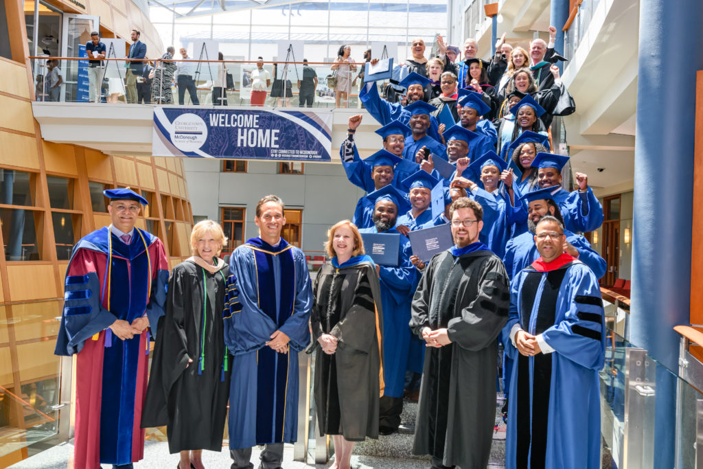 The first class of Georgetown's Pivot Program graduated earlier this summer.