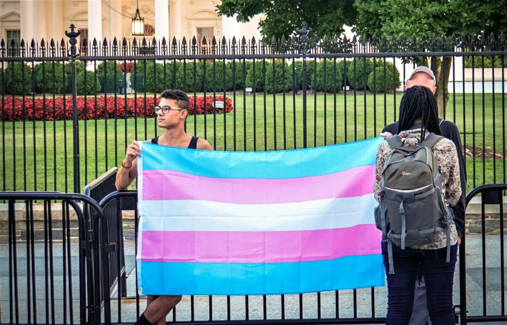 A 2017 protest of the transgender military ban in Washington, D.C. <i>Image credit Ted Eytan/Flickr</i>