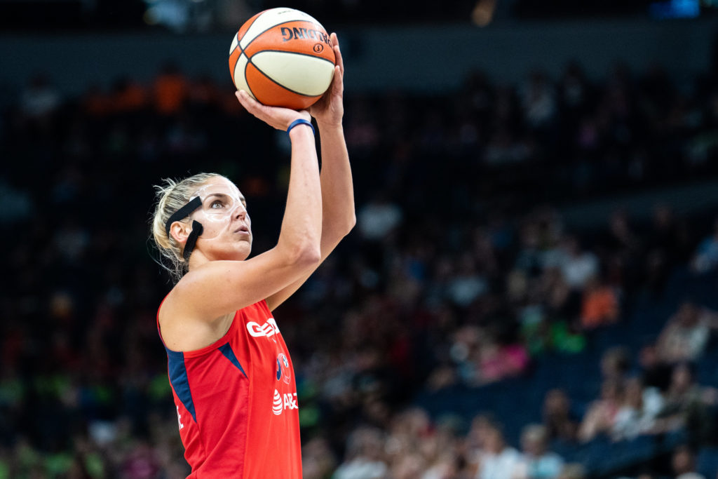 Elena Delle Donne is one of the star players for the Washington Mystics.