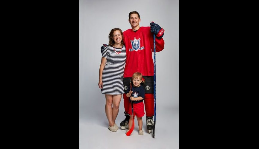 Charlie Mitchell USA Blind Hockey with family