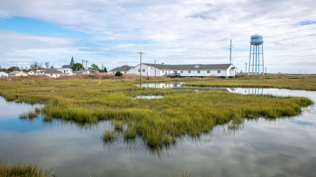 Over the next 25 to 50 years, experts anticipate that rising sea levels will overtake Tangier Island, making it uninhabitable.
