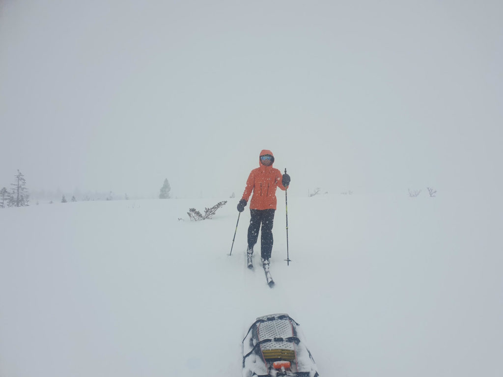 Alison Reynolds cross-country skis across Norway.