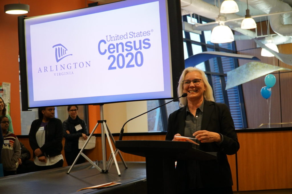 Census workers in Arlington at their 2020 kickoff (April 1, 2019).