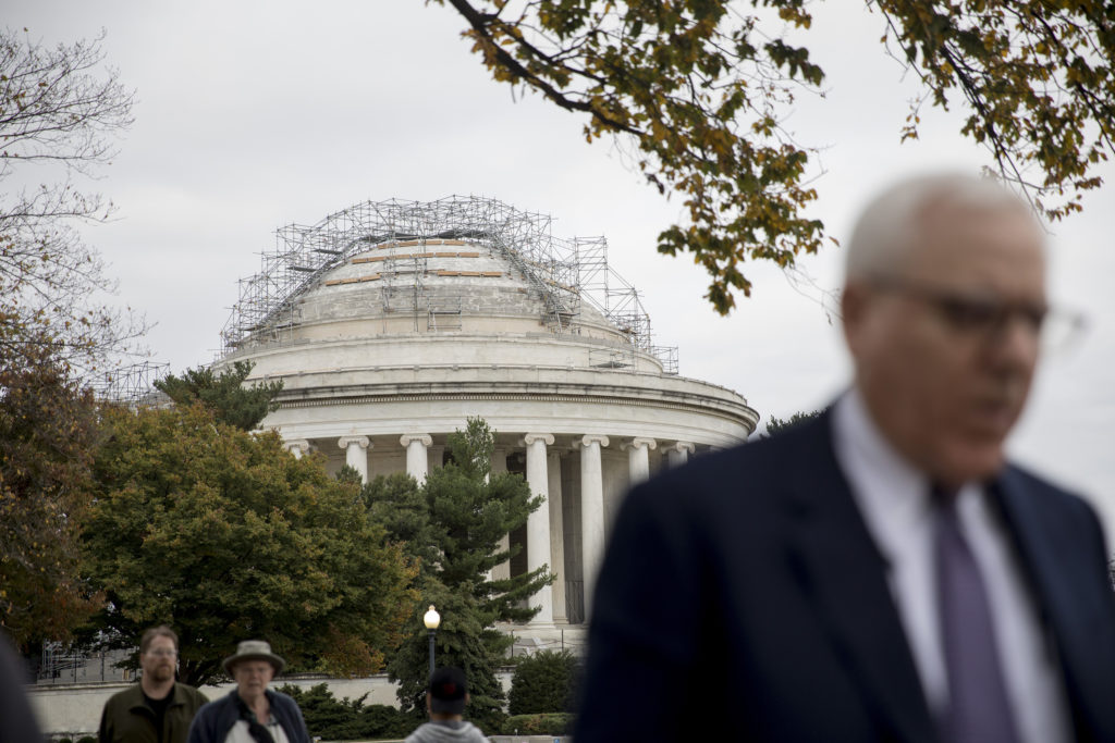 Businessman and philanthropist David Rubenstein pledged $10 million to renovate the Jefferson Memorial's underground museum.