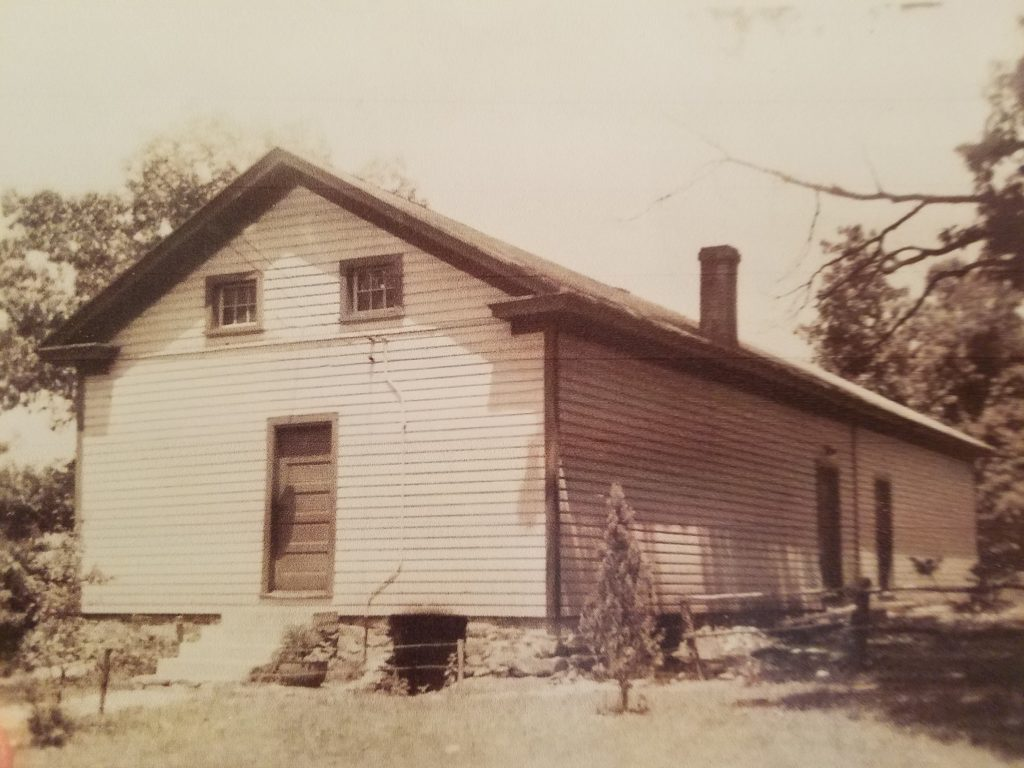 Before this addition to the Willisville school was built in 1932, the village children were taught by one teacher working in a one-room schoolhouse overcrowded with 51 students.