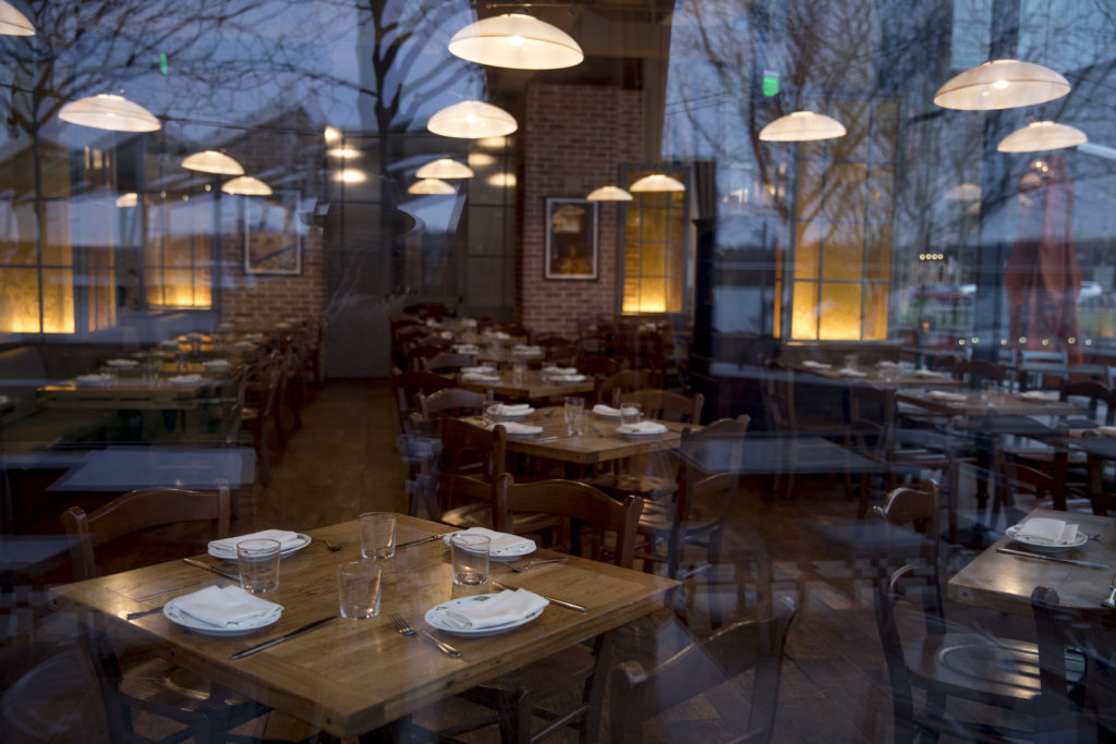 Morini Osteria restaurant in the Yards Park area of D.C. on March 16, 2020.
