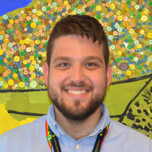 D.C. 2020 Teacher of the Year Justin Lopez-Cardoze, who teaches 7th-grade science at Capital City Public Charter School.