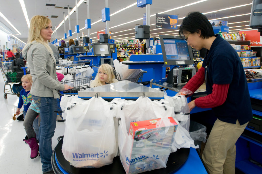 """Workers at stores like Walmart have been deemed """"essential"""" during the coronavirus pandemic."""