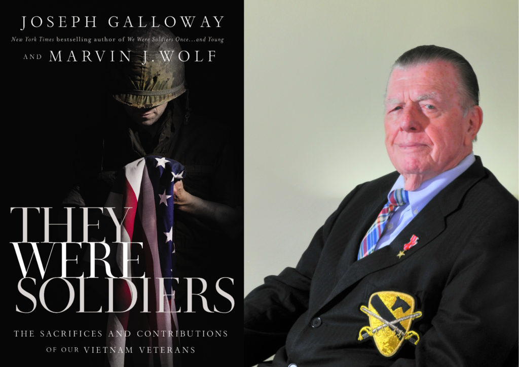 "War correspondent and author Joe Galloway (above) collaborated with Army veteran, author and photojournalist Marvin J. Wolf on ""They Were Soldiers."""
