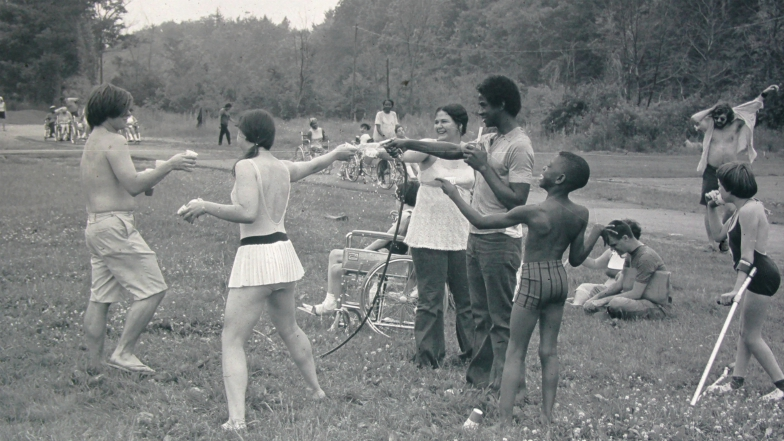 """A scene from the Netflix documentary """"Crip Camp: A Disability Revolution,"""" which was directed by Nicole Newnham and Jim LeBrecht."""