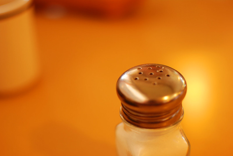 A salt shaker. Research shows that salt is far more damaging in Americans' diets than many people realize.