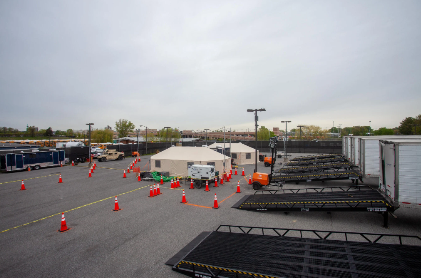 In April, D.C. created this secret morgue for Covid patients on a secured, city-owned parking lot in Southwest.