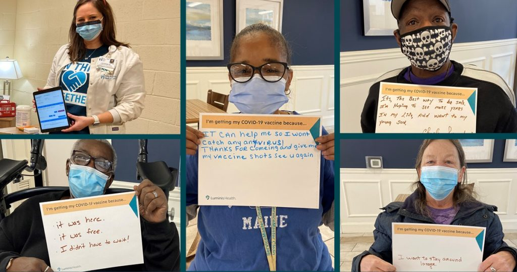 Health workers and newly vaccinated locals at a community clinic in Anne Arundel County share why they got the coronavirus vaccine.