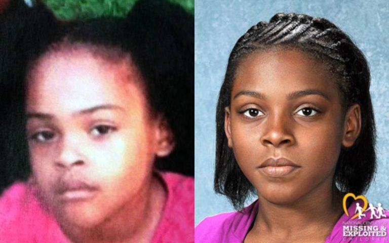 Relisha Rudd disappeared seven years ago. An age progression photo, right, shows what she might look like today.