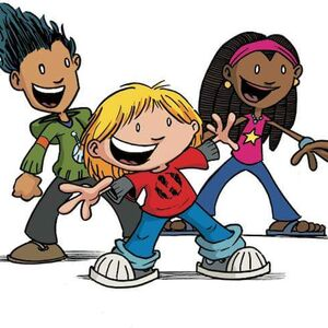 """From left, D.J., Hilo and Gina, the main characters in graphic novelist Judd Winick's """"Hilo"""" series, a New York Times best seller."""